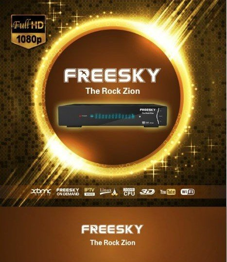 Receptor Freesky the Rock Zion HD IPTV 4 Tuners