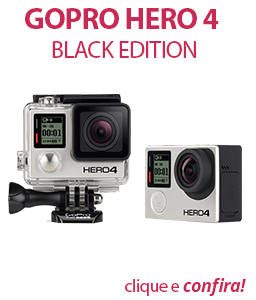 Filmadora GoPro Hero4 Black Edition Adventure 12MP, Wi-Fi